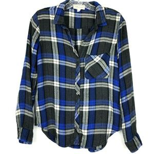 Cloth and Stone Plaid Button Up Shirt
